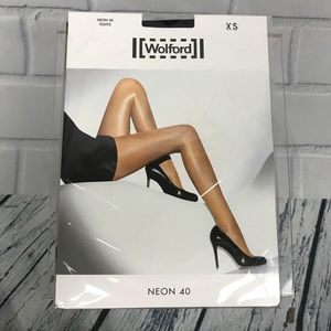 Wolford Neon 40 Black Tights Pantyhose XS